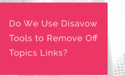 Do We Use Disavow Tools to Remove Off Topics Links?