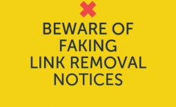 Poster on Fake Link Removal Notices